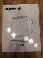 Glas Wasserkocher HOMMINI 2 Liter