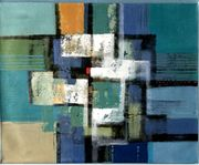 Großes neues BALI-Gemälde Vielfarbige Komposition