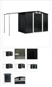 Gerätehaus mit Schiebetüren Anthrazit 386×131×178