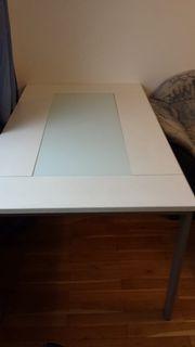 Esstisch mit Glasplatte 2 Stühle