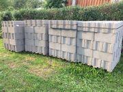 Ziegel Betonhohlblockstein 49x24x24cm grau