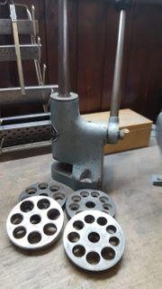 Werkstattauflösung Ringweite und Stauchmaschine