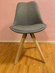 4x Esszimmerstühle Neuwertig Polster Holz