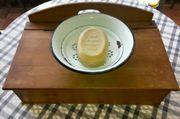 Seifenschale mit Einsatz aus Emaille