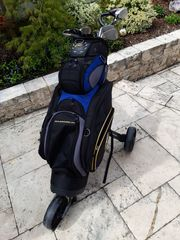 Golf Set mit Cartbag Trolley