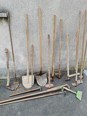 Gartengeräte Werkzeuge Deko z T