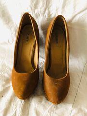braune High Heels von Jumex