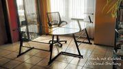 Variabler Glas-Schreibtisch Doppeltisch Ablage Eckelement
