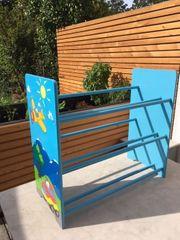 Buntes Holz Kinderzimmer Regal