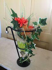 Vase mit Kunstblumen Dekoration Kunst