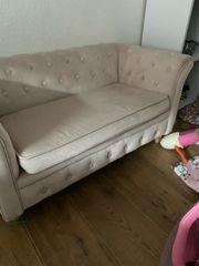 Kinder Couch rosa samt