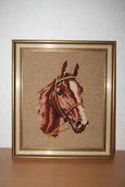 Gobelinbild Pferdekopf