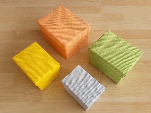 4x Aufbewahrungsbox Geschenkbox Ordnungsbox Schachtel