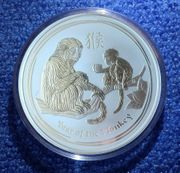 Lunar II Affe Silber 10