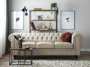 3er Sofa Polsterbezug beige CHESTERFIELD