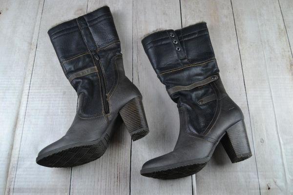 Tamaris Stiefeletten Leder gr. 40 schwarz