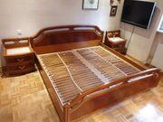 Schlafzimmer inkl Bett 2 Nachttische