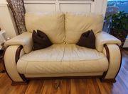 3 mal Voll Leder Sofa