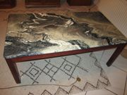 Couchtisch Marmor Mahagoni 130 x