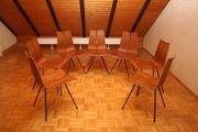 6 Designer Teak-Stühle von Hans
