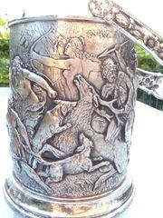 Eiskübel Eiseimer Flaschenkühler 800 Silber