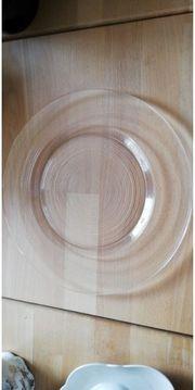 Glasteller 18 Platzteller Teller Glas