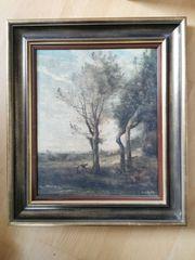 Ölgemälde von Camille Corot Vier