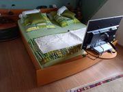 Modernes hochwertiges Schlafzimmer Buche Smaragdgrün