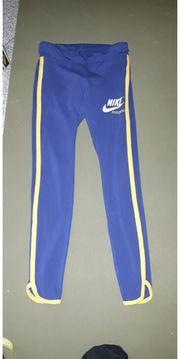 Blaue Nike Hose Leggins S