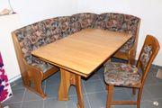 Esszimmergarnitur bestehend aus Eckbank Tisch