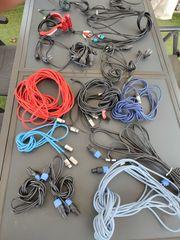 Mikrofon und Lautsprecher Kabel