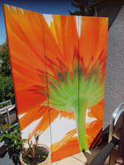 PARAVENT dreiteilig - mit Blüten-Motiven - outdoor