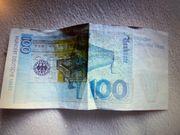 100 dm Geldschein