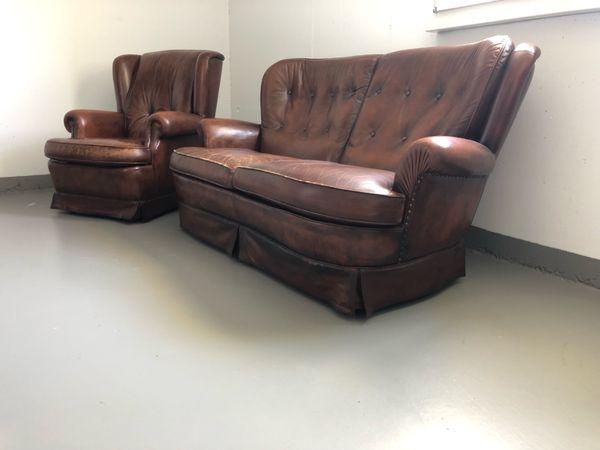 Leder Couch Antik