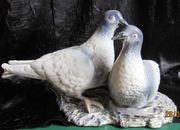 Großes Taubenpaar Porzellan Keramik