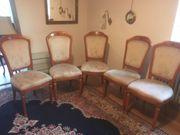 5 Vintage-Stühle aus massivem Kirschholz