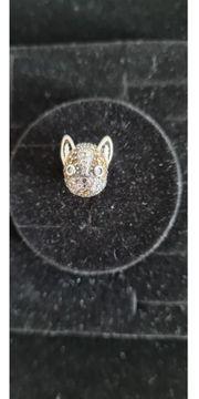 Echt Silber Charm Französische Bulldogge