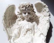 Großer Weihwasser Engel weiß Weihwasser