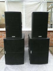 EAW JFX260i SBX220 PA-Lautsprecher werden