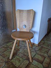 4 Stühle Eiche massiv