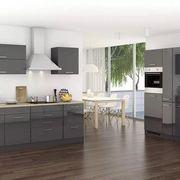 Küchenblock in Anthrazit inkl E-Geräte