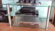 Fernseher Glastisch