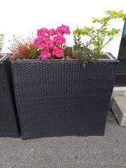 Schnäppchen Blumenkästen Korbgeflecht ohne Pflanzen
