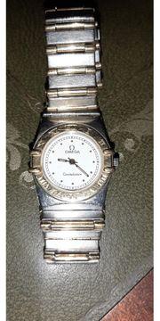 ältere gebrauchte Omega Armbanduhr Stahl