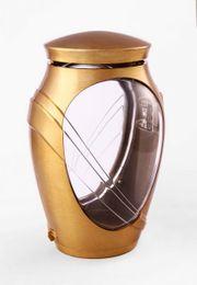 Exclusive Grablampe Kamelia bronzefarben Grablaterne