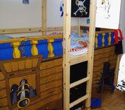 Hochbett Piratenschiff halbhoch 90 x