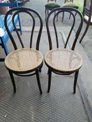 2 alte antike Bistro Stühle