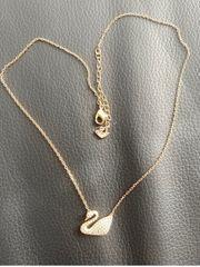 Swarovski Halskette vergoldet