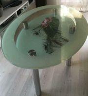 Glastisch oval 160cm für Esszimmer