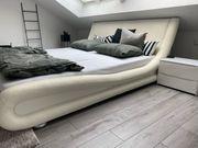 Polsterbett Ehebett Bett 180x200a weiß